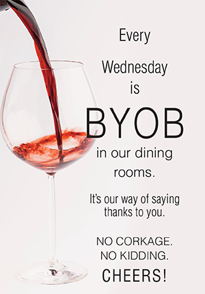BYOB Wednesday