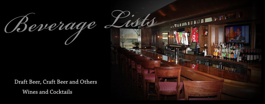 Try our wide selection of Craft Beers, Wines, Cocktails and Martinis